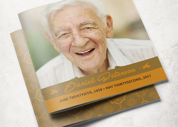 Ornamental Funeral Program Template By Loswl On Creative Market