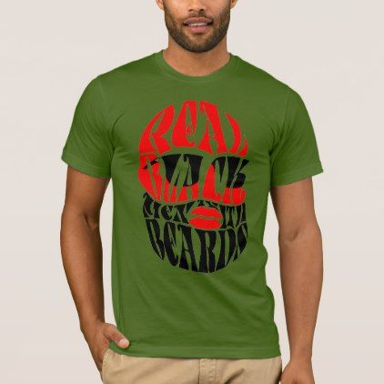 Trendy PAGA Real Black Men With Beards T-Shirt - black gifts unique cool diy customize personalize