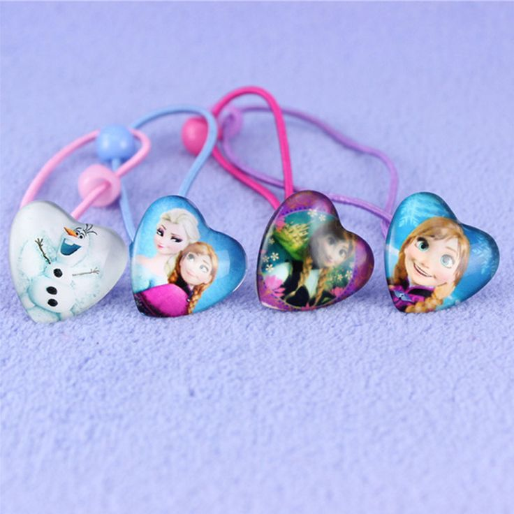 10Pcs/lot Newest Cartoon Hair accessories Elsa&Anna Princess Figures Hair Barrette Bow Hair Brands For Girls Free Shipping