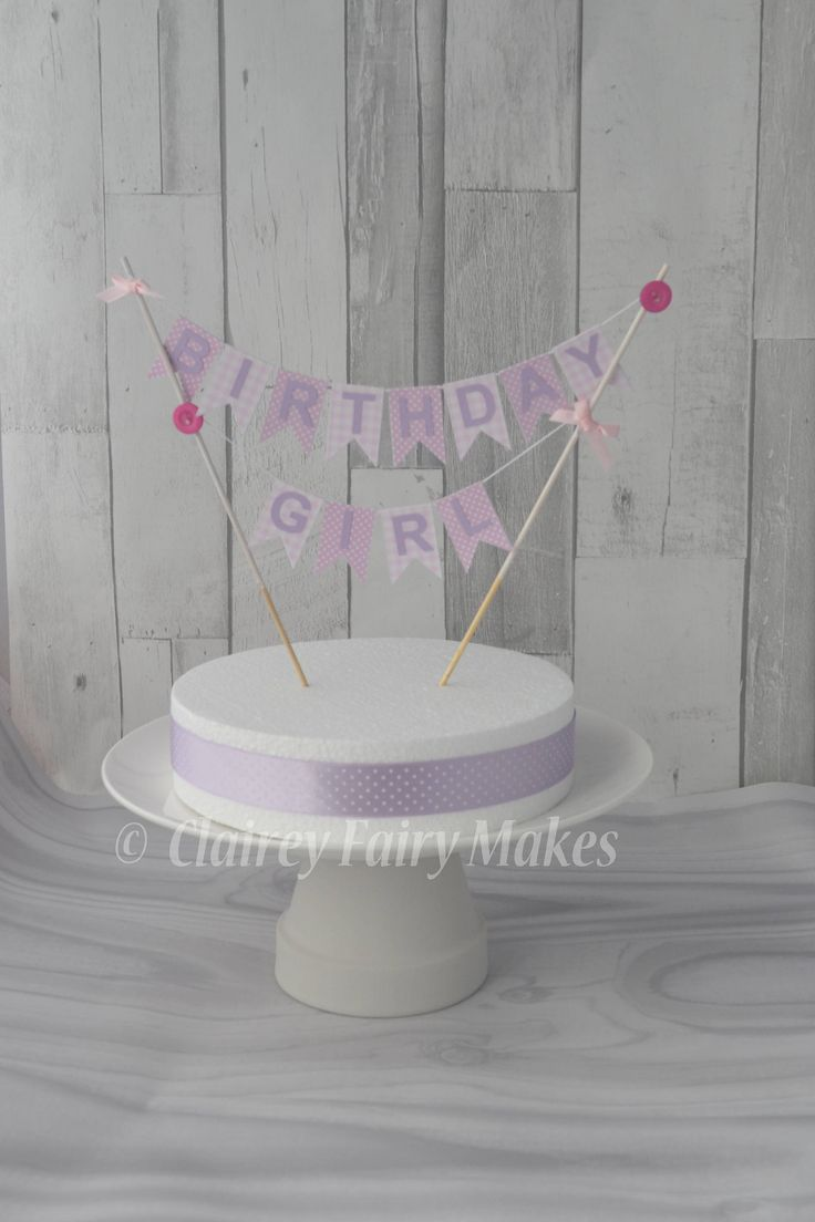 Birthday cake bunting, cake topper, personalised cake topper, personalized topper, centre piece, cake smash,birthday decorations, boy, girl by ClaireyFairyMakes on Etsy