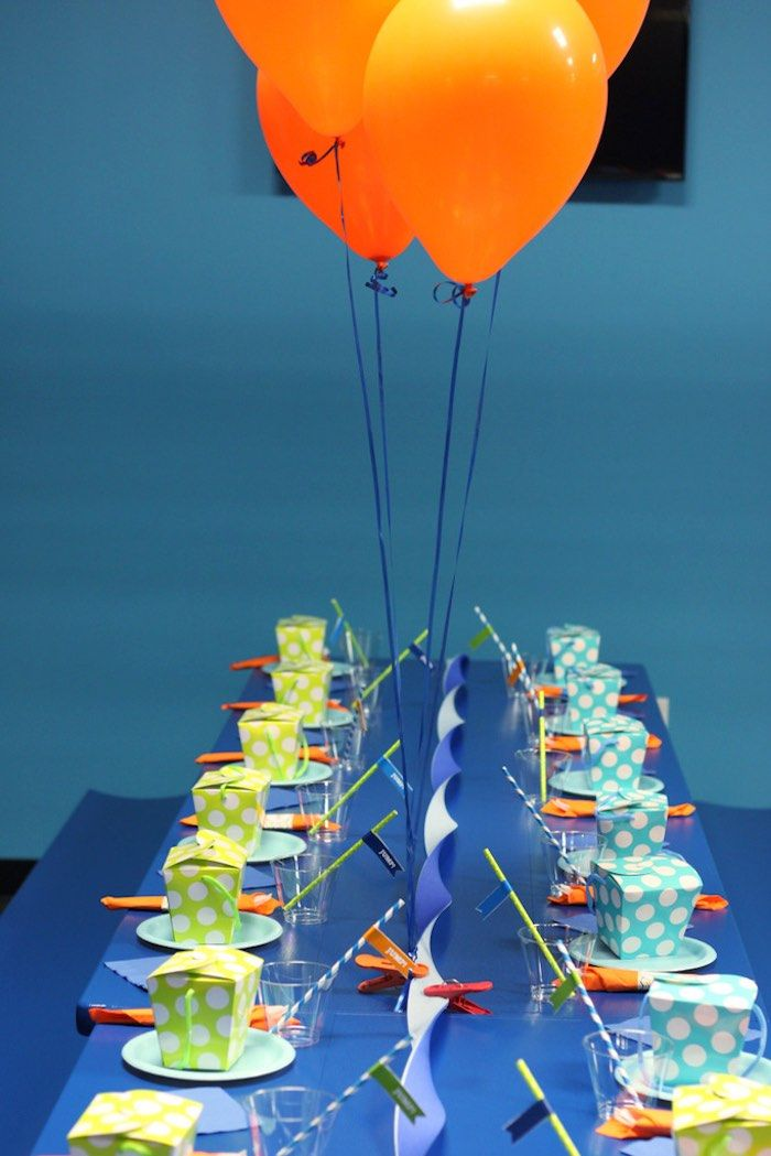 Colorful Trampoline + Jump themed birthday party via Kara's Party Ideas | KarasPartyIdeas.com (9)