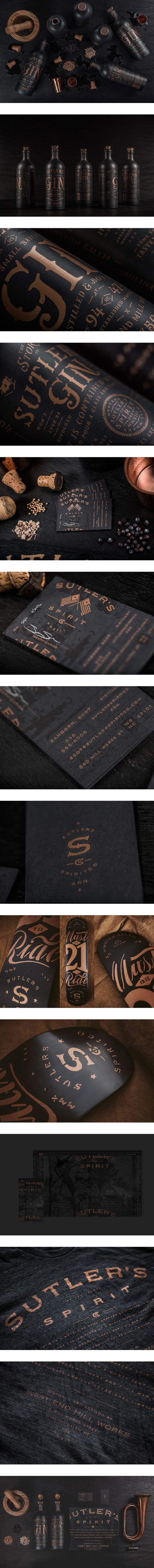 Nice use of copper with black for a luxury feel with some edginess to it  Sutler's Spirit Co.