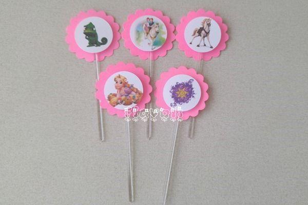 Palito decorativos em camadas–Rapunzel  :: flavoli.net - Papelaria Personalizada :: Contato: (21) 98-836-0113  vendas@flavoli.net