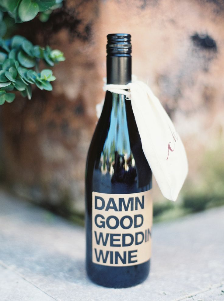 Damn Good Wedding Wine! See the wedding on SMP here: http://www.StyleMePretty.com/2014/05/27/romantic-houston-backyard-wedding/  Photography: TaylorLordPhotography.com