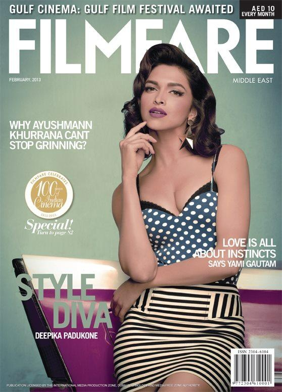 Deepika Padukone on the cover of Filmfare Middle East