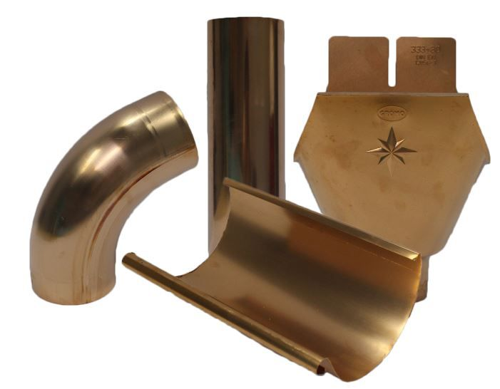 Ornametals Is The Only U S Manufacturer Of Eurogutterusa A Complete Half Round And Seamless Weld Downspout System In Co Copper Gutters Copper Roof Downspout