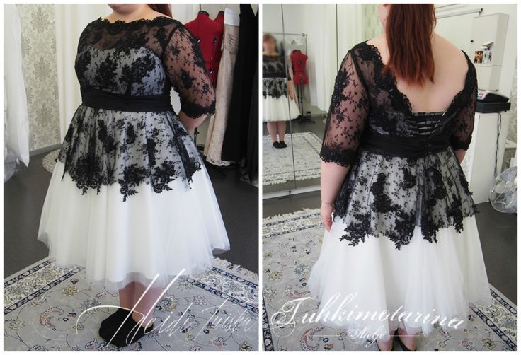 Black and white short tulle  and lace dress Dress by: Heidi Tuisku/Ateljé Tuhkimotarina