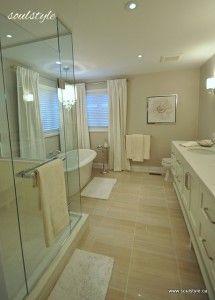 Neutral bathroom colours - lovely bathtub & Shower