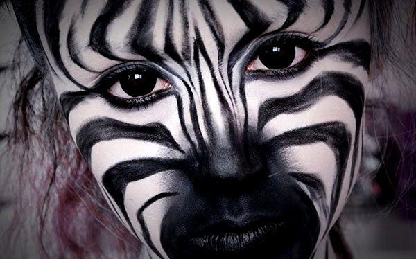 Inspiration, alle Accessoires und eine Schmink-Anleitung, damit du dein Zebra Kostüm selber machen kannst.