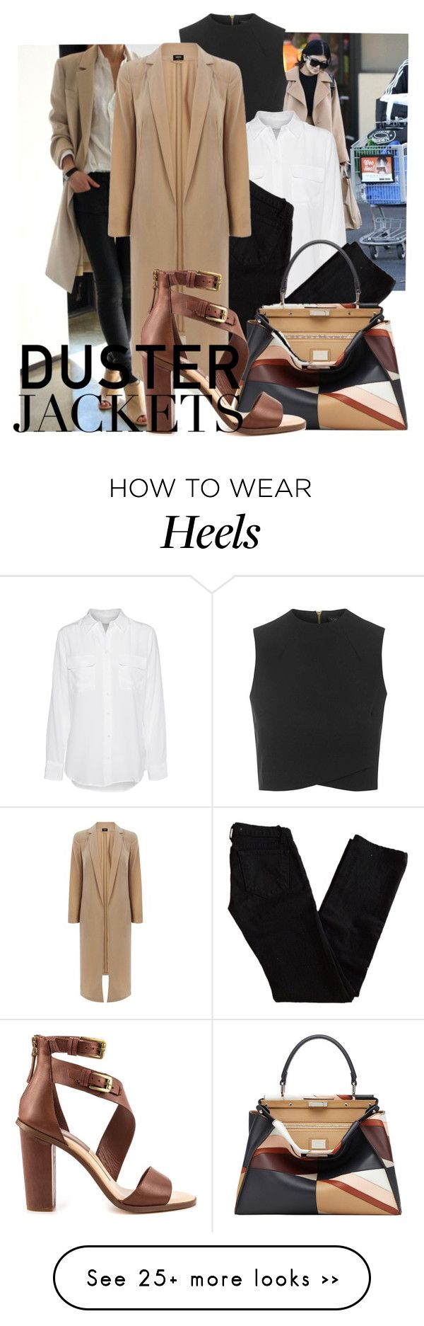 """""""Camel Duster"""" by rbsm on Polyvore featuring Topshop, Equipment, J Brand, Oasis, Fendi and Dolce Vita"""