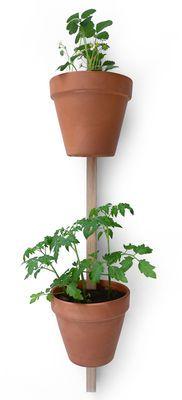 Supporto a parete XPOT / Per 2 vasi di fiori - H 100 cm