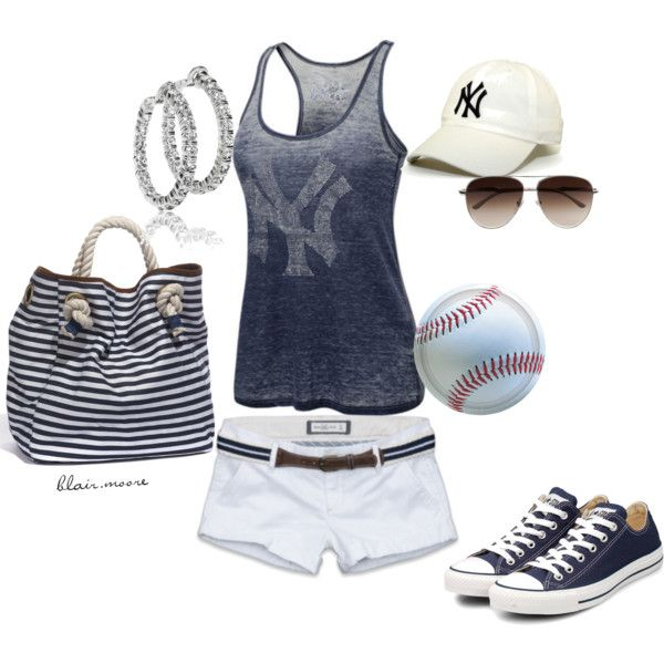 girly baseball outfit :)  (maybe a different shirt)
