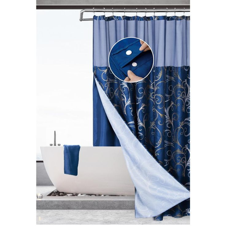Dainty Home Hotel Complete Waffle 70 In X 72 In Blue Gold Swirl