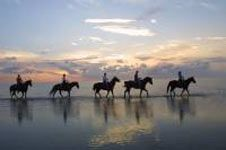 Riding into the sunset on the beach of South Padre Island