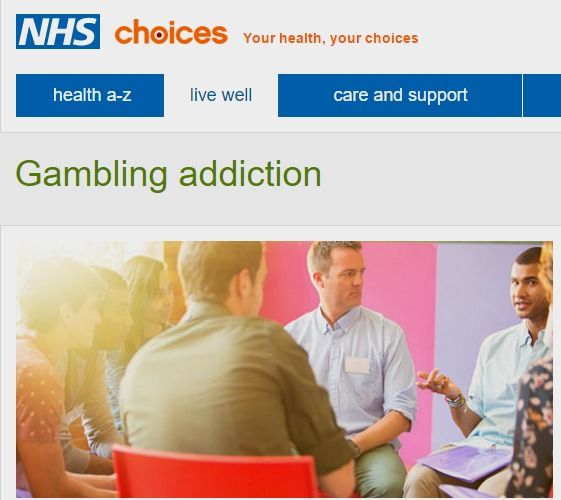 Gambling addiction - Live Well - NHS Choices