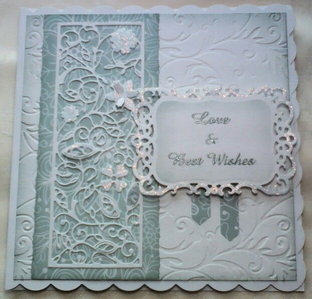 Card Making Ideas Using Tattered Lace Dies Part - 24: Tattered Lace Magazine Papers With Tattered Lace Free Floral Panel U0026  Spellbinder Dies, Iced Spruce · Tattered Lace CardsPretty ...