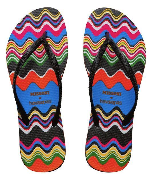 Missoni for Havaianas…. flip flops go luxe!
