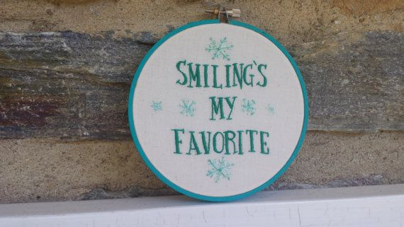 Smiling's My Favorite Buddy the Elf Quote by LadyJaneLongstitches
