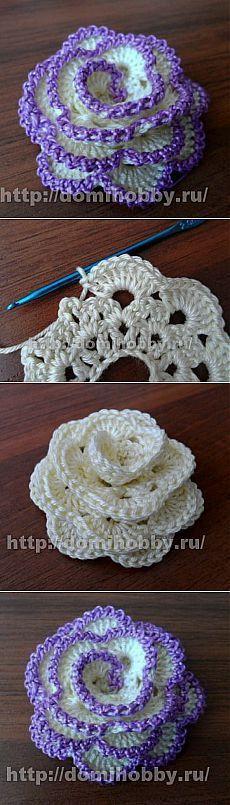 Les 25 meilleures id es concernant fleurs au crochet sur - Bijoux au crochet modele gratuit ...