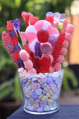 Valentines Candy Bouquet, make your own using Twinkle Pops and bamboo skewers