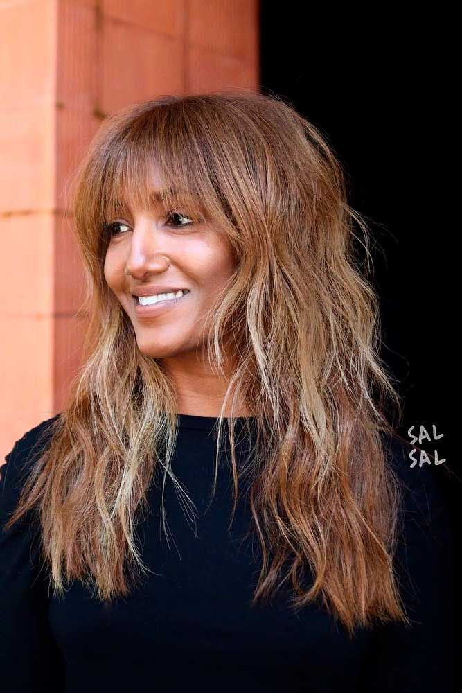 Long Hair With Bangs How To Choose Perfect Bangs For Your Face