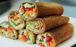 Raw Vegan Gluten Free Guacamole Wrap