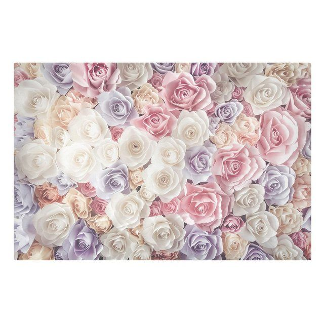 Canvas Art »Pastel Paper Art Roses«  – Products
