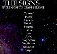 Zodiac Signs - Most To Least Selfish - Page 1 - Wattpad