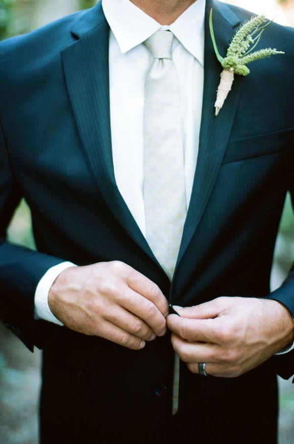 classic groom look with boutonniere #groom #groomattire #weddingchicks http://www.weddingchicks.com/2014/03/12/vintage-garden-wedding-ideas-3/