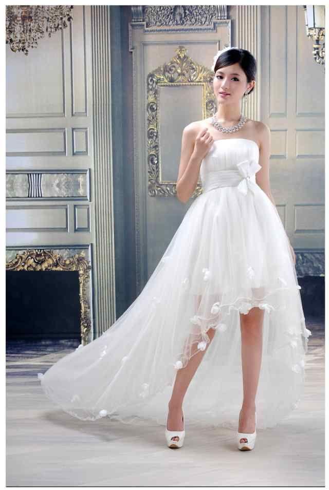 「格安!高品質☆ミニ丈ウェディングドレス♪マタニティ 体型カバー ウェディングドレス 結婚式♪オーダーサイズも対応可能 H018」の商品情報やレビューなど。