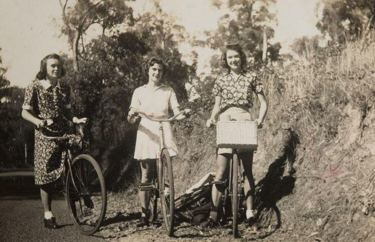 Three Girls Riding their Bikes to Ferntree Gully ...Australia?