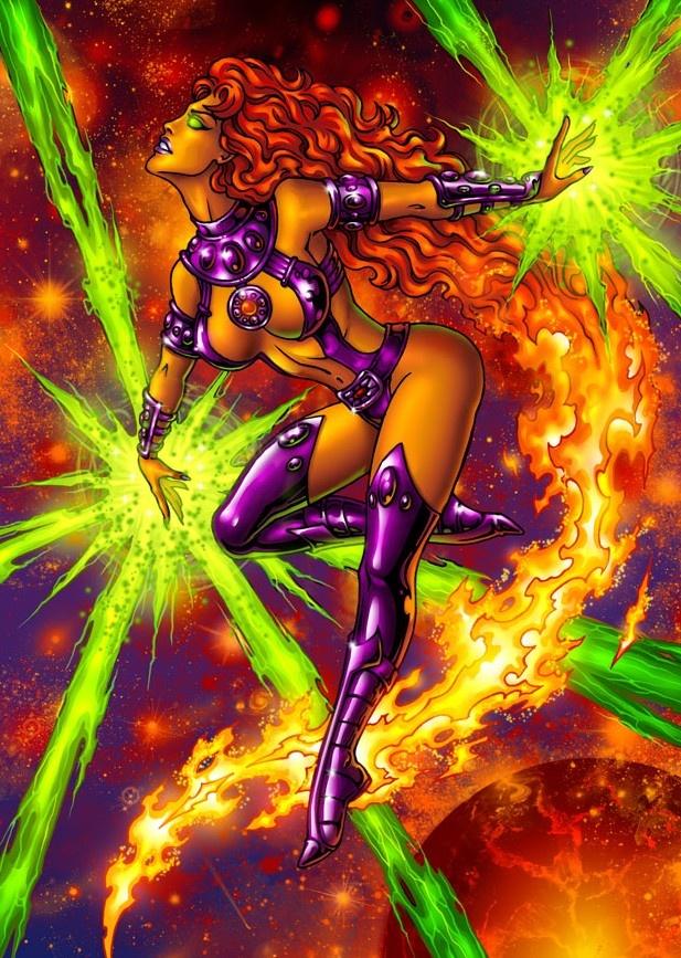 Starfire   Starfire Comic Book Pin Up   Pinterest