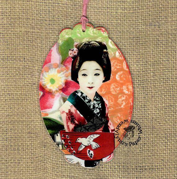 Asian bookmark woman
