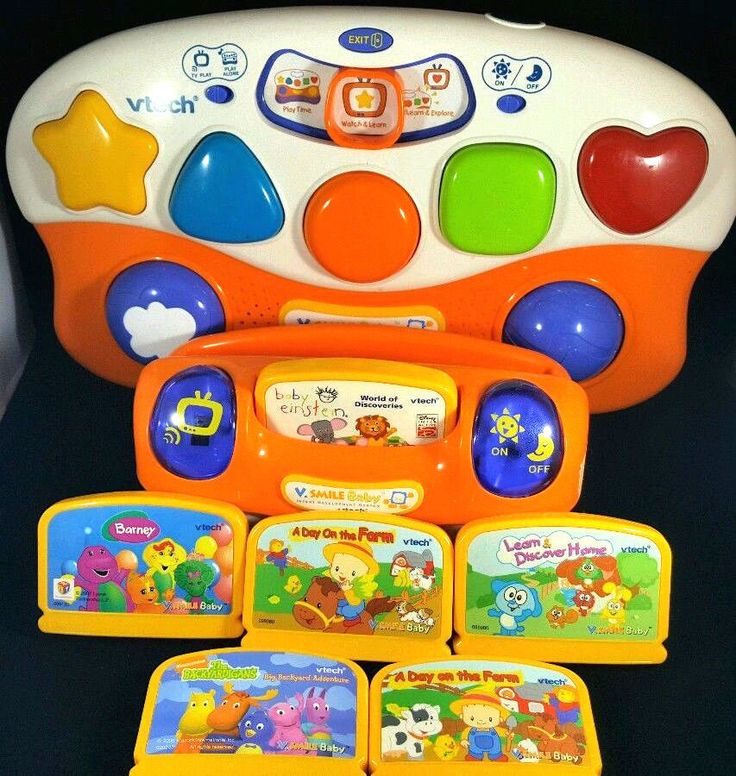 v smile baby game lot development system vtech 936 month learning toy tested