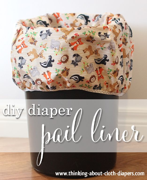 Save money with our quick and easy diaper pail liner tutorial.  We've got photos, dimensions, and instructions to help you sew a storage bag for your baby's cloth diapers.