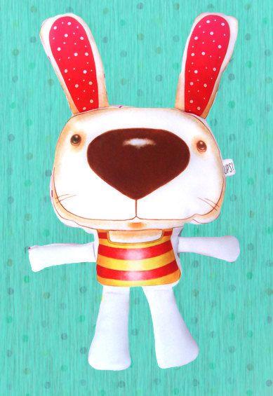 Muñeco Conejo - Rabbit doll de JessicaIlustradora en Etsy