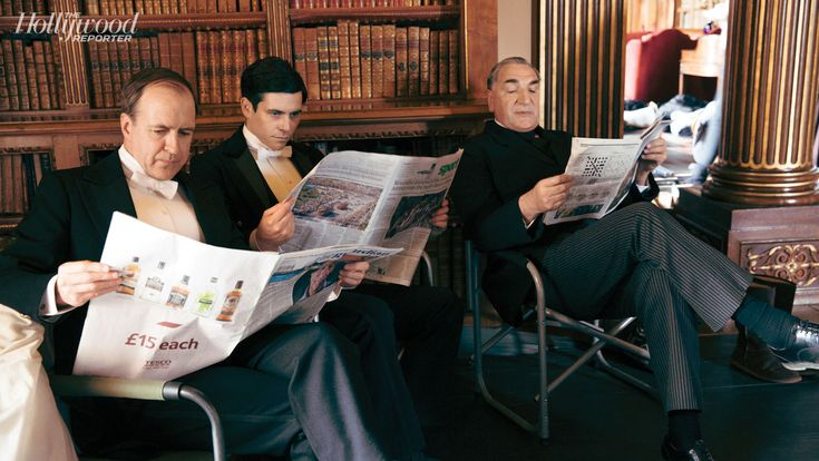 Kevin Doyle, Rob James-Collier, Jim Carter On the Set of 'Downton Abbey' as Hollywood Reporter Gets Exclusive Look at Season 5