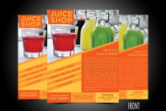 Juice Flyer Template by meisuseno on @creativemarket