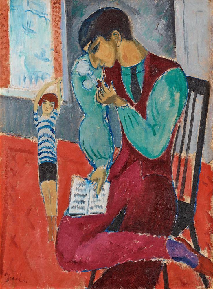 """** ISAAC GRÜNEWALD, """"Far och son"""" (Isaac and Ivan). 1917."""