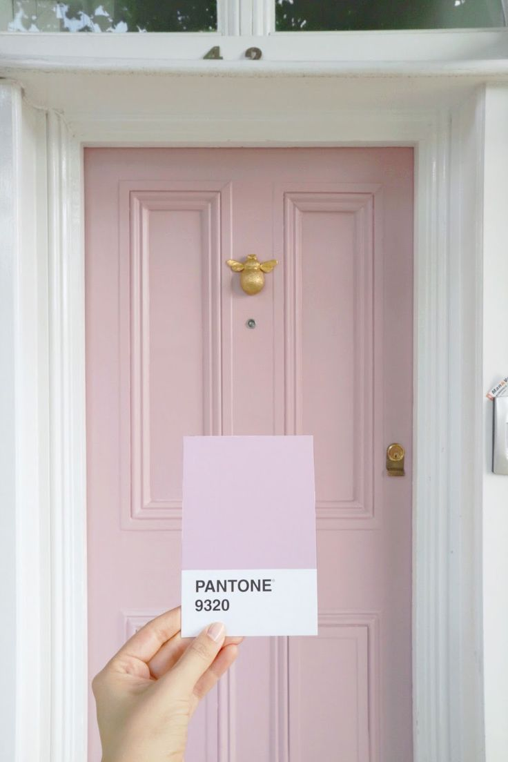 Painting Front Door An Unexpected Color Pantone Pink Front