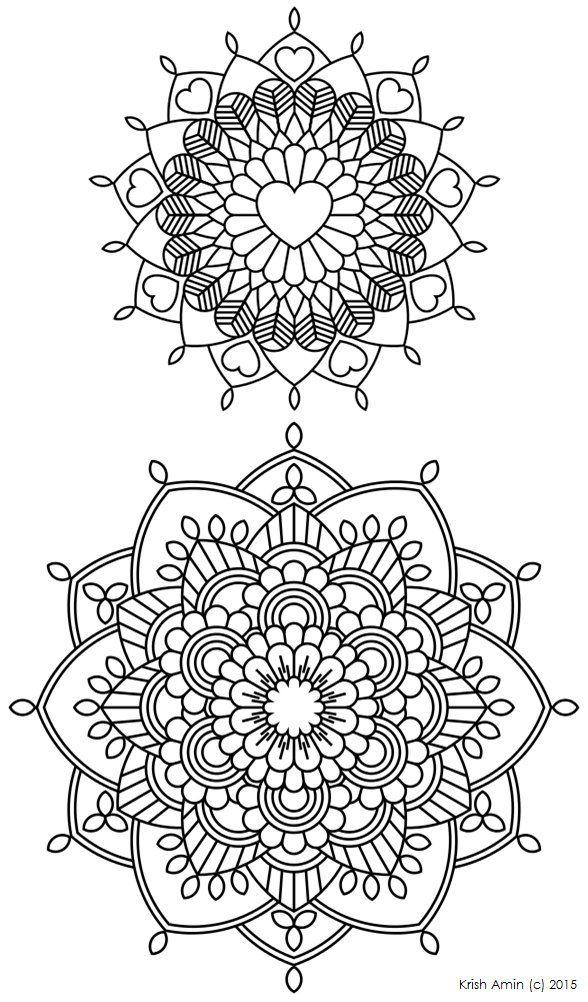 112 Printable Intricate Mandala Coloring Pages от KrishTheBrand