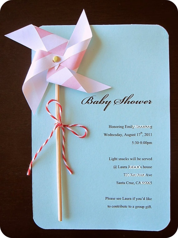 DIY Pinwheel Invitation Kit - Makes 8