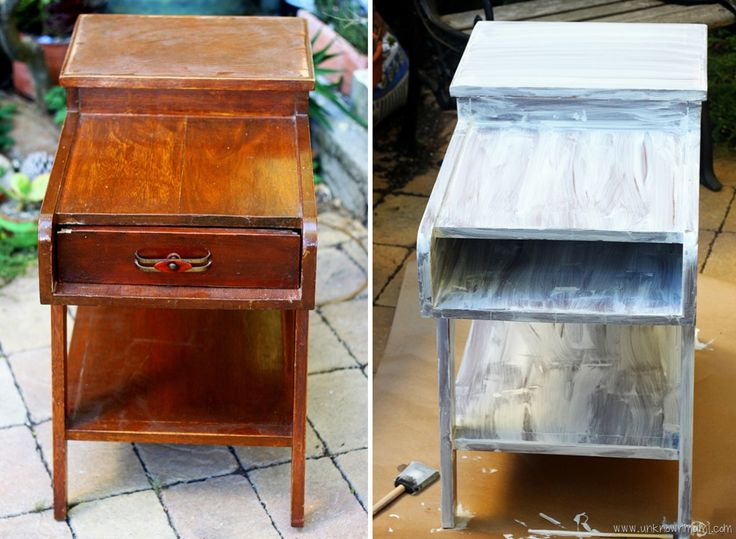 How to paint wood furniture WITHOUT sanding.