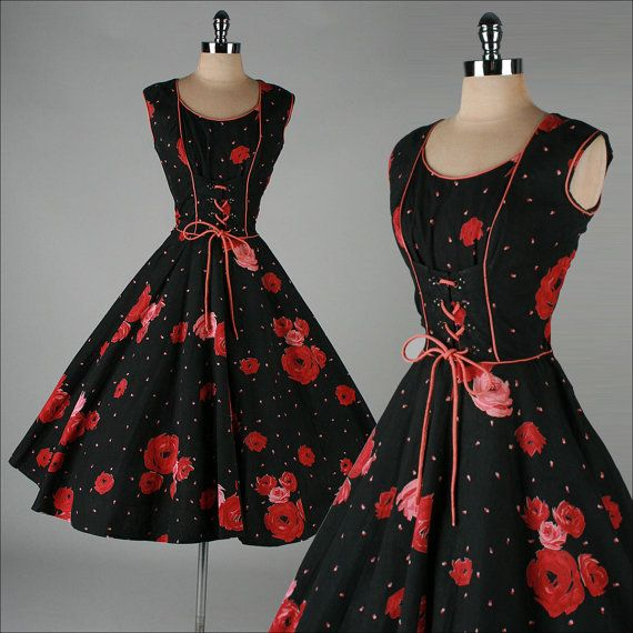 vintage 1950s dress . JOAN CURTIS . black by millstreetvintage, $225.00