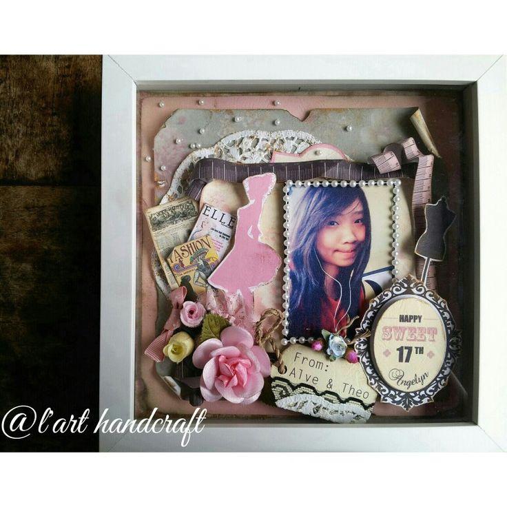 happy 17th birthday #scrapframe #gift #scrap #present #sweetseventeen