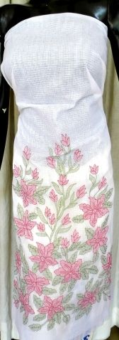 This absolutely gorgeous hand embroidered kurta piece is on kota cotton fabric, and has intricate shadow work embroidery in a lovely, feminine, floral pattern. Team it up with a plain bottom and dupatta, and become the cynosure of all eyes. Size:45 in x 86 in. - See more at: http://www.giftpiper.com/HandembroideredShadowWorkKotaCotton-Kurta-White-id-615165.html#sthash.Ciu3pBdr.dpuf