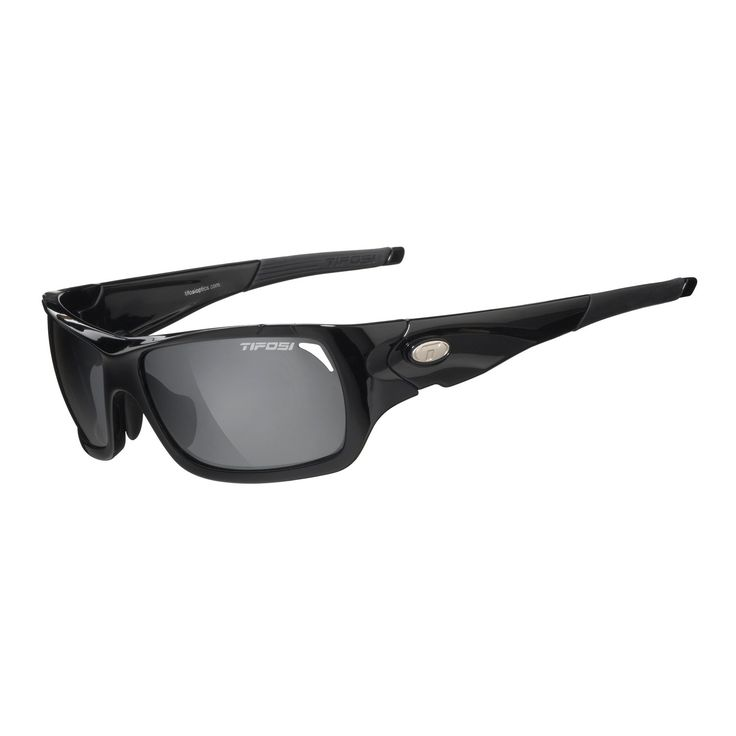 Tifosi Duro 1030100201 Wrap Sunglasses,Gloss Black,150 mm. Hydrophilic rubber temples. Case Included.