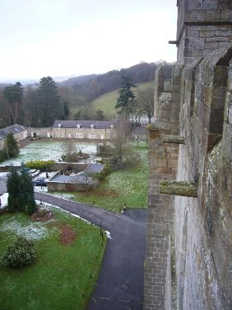 Langley Castle Hotel: View of the Castle View cottages from the battlements