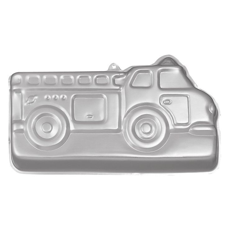 Wilton Aluminum Fire Truck Cake Pan - For your family hero or your little firebug, the Wilton 2105-2061 Aluminum Fire Truck Cake Pan is the center of a 5-alarm celebration. No one has to k...
