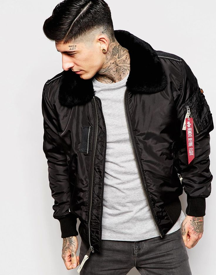 Alpha+Industries+Bomber+Jacket+With+Faux-Fur+Collar